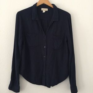 Cloth & Stone Navy Blue Button Up